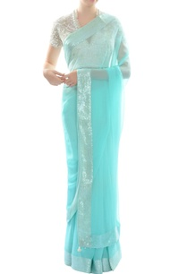 ivory-embroidered-blouse-with-artic-blue-sari