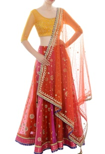 red-yellow-orange-lehenga-set