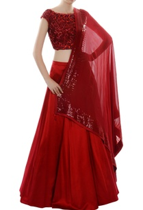 red-cutwork-embroidered-lehenga-set