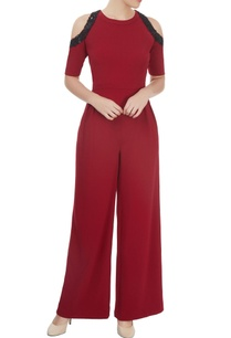 marsala-cold-shoulder-jumpsuit-with-bead-work-and-sequin-detailing