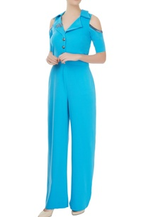 petrol-blue-blazer-jumpsuit-with-statement-gold-buttons