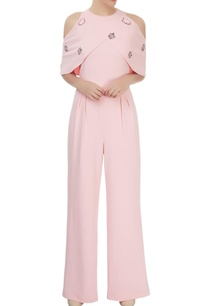 light-pink-sword-lily-jumpsuit-with-cold-shoulder