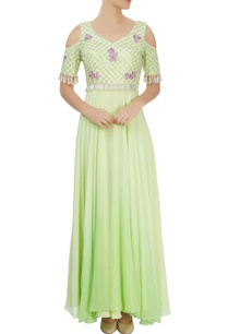 lime-green-anarkali-gown-with-florals-and-bead-work
