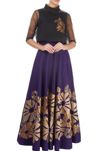 purple-skirt-with-gold-tissue-applique