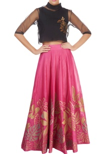 pink-skirt-with-floral-motif