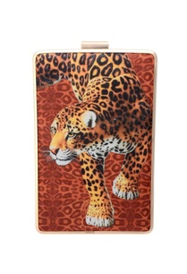 tiger-printed-clutch
