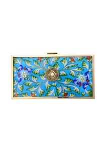 blue-printed-clutch-with-embellishment