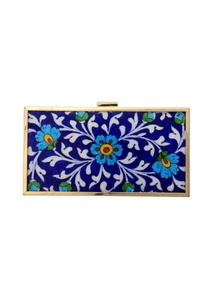 blue-printed-rectangular-clutch
