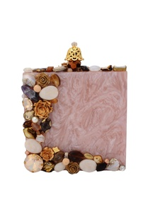 light-pink-embellished-box-clutch