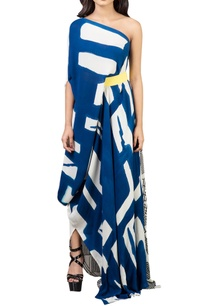 deep-blue-white-hand-painted-dress