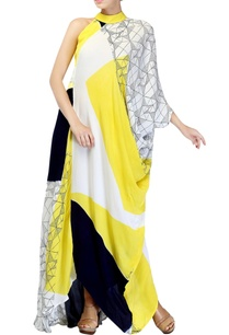 lemon-yellow-block-printed-dress