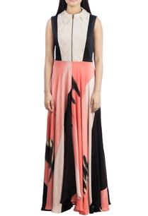 black-pink-brush-painted-dress