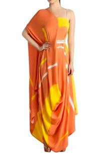 orange-yellow-brush-painted-dress