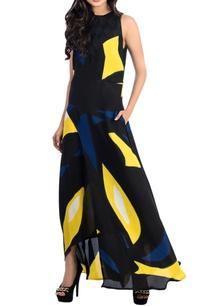 colour-blocked-brush-painted-dress
