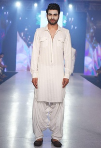 white-striped-kurta