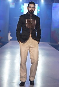 black-bandhgala-jacket-with-leather-trims