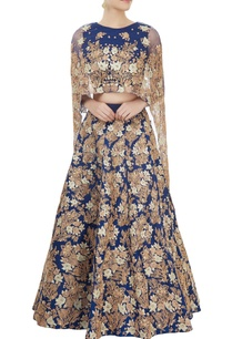 blue-embroidered-lehenga-set