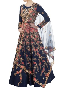 blue-embroidered-anarkali-set