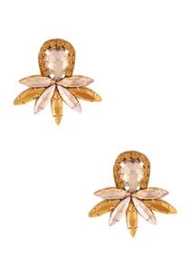 gold-studded-earrings-in-leaf-shape