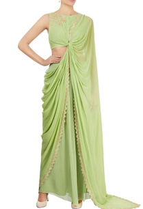 apple-green-draped-sari