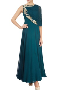 emerald-green-draped-gown