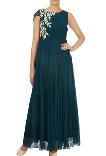 emerald-green-embellished-gown