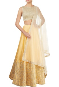 chrome-yellow-embellished-lehenga-set