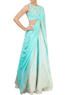 ice-blue-draped-sari