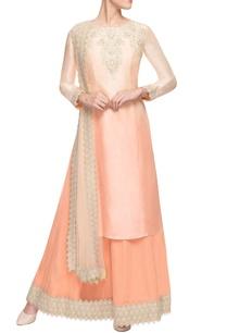 peach-ombre-kurta-set-with-skirt