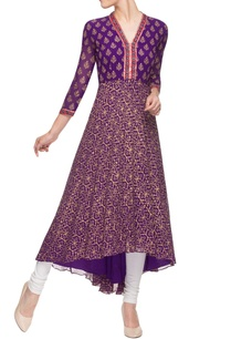purple-asymmetrical-printed-kurta