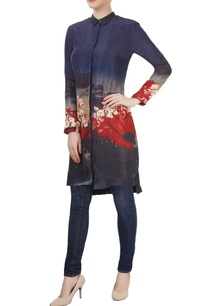 indigo-red-floral-printed-tunic