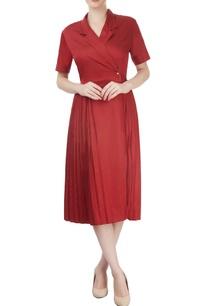red-overlap-dress