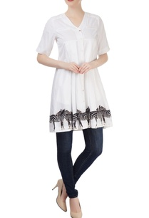 white-zebra-printed-tunic