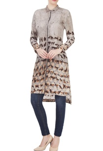 grey-animal-printed-tunic