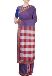 blue-purple-embroidered-sari