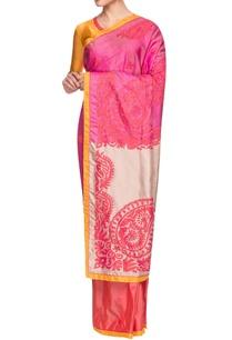 multi-colored-floral-embellished-sari
