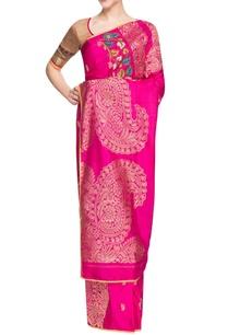 beige-pink-handwoven-sari-with-paisley-motif