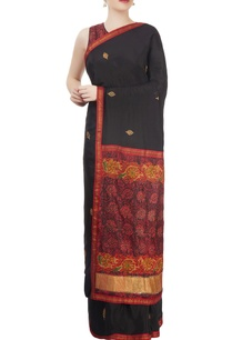 black-red-embellished-sari