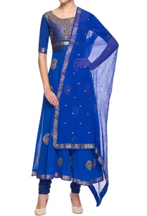 royal-blue-embroidered-anarkali-set