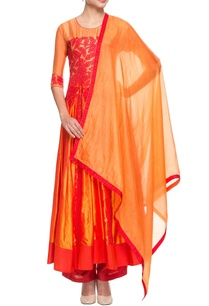 orange-red-kurta-set-with-applique