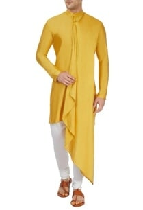 mustard-yellow-drape-kurta