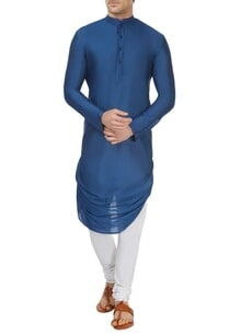 cobalt-blue-draped-kurta