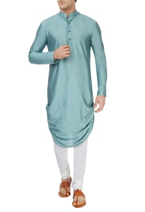 ice-blue-draped-kurta