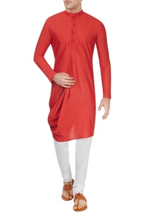 red-cowl-kurta