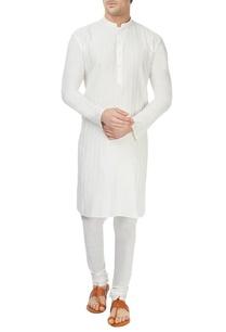 white-pintuck-kurta-churidar