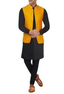 mango-yellow-bandi-jacket