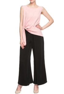 pink-draped-pleated-top