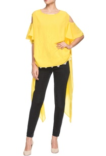 yellow-asymmetric-tunic