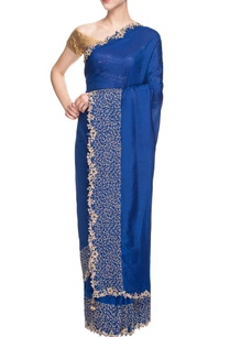 blue-sari-with-embroidered-border