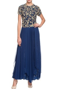 navy-blue-layered-kurta-with-embroidery